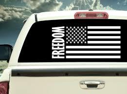 American Flag Freedom Vinyl Decal