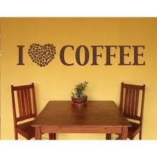 I Love Coffee Wall Decal Wall Decal Sticker Mural Vinyl Art Home Decor Quotes And Sayings 4384 Dark Green 39in X 9in Walmart Com