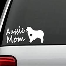 Amazon Com Bluegrass Decals C1141 Australian Shepherd Aussie Mom Dog Decal Sticker Automotive
