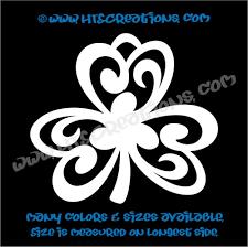 Shamrocks Celtic Irish Dance Ireland Luck Clover Vinyl Decal
