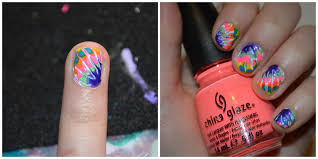 nail art tutorial tie dye finger nails