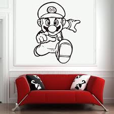 Japanese Super Mario Game Wall Sticker For Kids Room Decoration Boys Gaming Room Vinyl Stickers Decal Bedroom Decor Gamer Mural Make Your Own Wall Decals Make Your Own Wall Stickers From Onlinegame