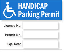 Static Cling Handicapped Parking Permit No Numbers Signs Sku Pp 0001
