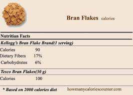 how many calories in bran flakes how