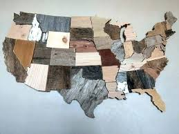 wood map wall art