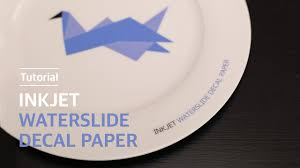 How To Use Inkjet Waterslide Decal Paper On Ceramic 잉크젯 물전사지 도자기 Youtube