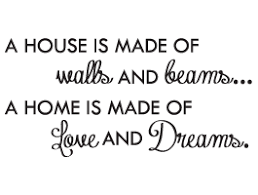 house and home quote wall decal dezign a z