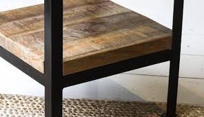 side table winning oak white round