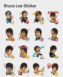 Bruce Lee Stickers Set Stickers
