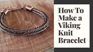 how to make a viking knit bracelet