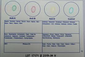 1 x blood type test kit group a b