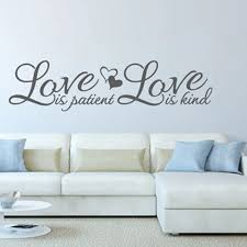 Love Is Patient Love Is Kind Wall Sticker Vinyl Quotes Home Decal Bedroom Decor Creative Removable Wall Decal Removable Wall Decals Wall Decalswall Sticker Aliexpress