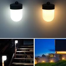 Tamproad Led Solar Powered Fence Wall Light Outdoor Waterproof Street Courtyard Path Home Garden Security Lamp In 2020 Led Wall Lamp Garden Path Lighting Solar Lights