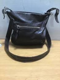 leather cross coach purse brown