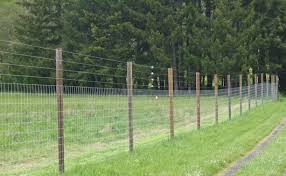 Heavyweight Or Extra Heavyweight Woven Wire Fences Are Excellent For Nonhorned Sheep And Goats Description From Fencer1 Net I Deer Fence Wire Fence Dog Fence
