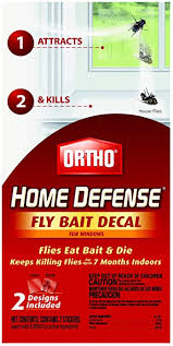Amazon Com Ortho Home Defense Fly Killer Window Decal 2 Pk Home Pest Control Products Garden Outdoor