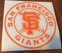 San Francisco Giants Decal Vintage Car Window Sticker B