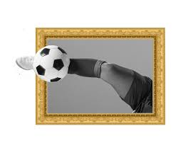 Football Frame Wall Sticker Tenstickers