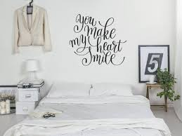 Wall Decal Sticker Quote You Make My Heart Smile Love Etsy