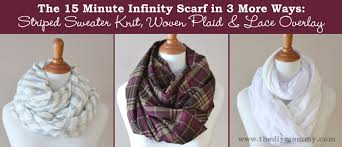 sew the 15 minute infinity scarf in 3