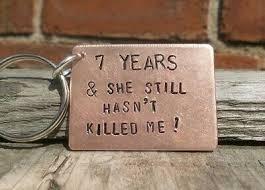 funny 7 years 7th wedding anniversary