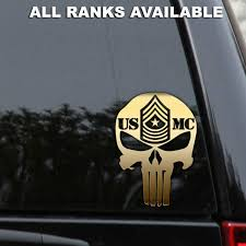Marine Usmc Punisher Rank Decal Sticker Sergeant Major Corporal Window Rlgraphics Decals Stickers Vinyl Decals Marine