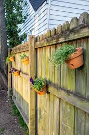 How To Make A Fence Herb Garden With Terra Cotta Pots
