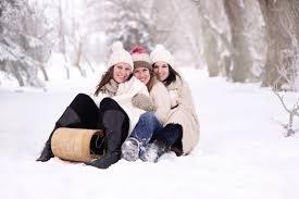 Free Images : snow, winter, weather, season, girls, happy ...
