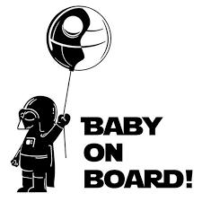Baby On Board Darth Vader Death Star Sticker Gemdrip
