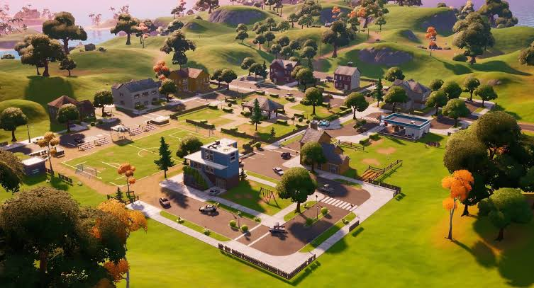 Pleasant Park is full of dust in Fortnite Chapter 2