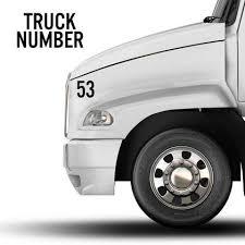 Truck Door Decals Stickers Us Dot Semi Truck Lettering