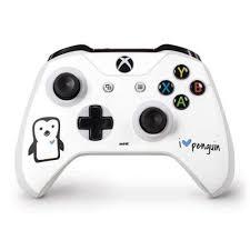 I Heart Penguin Xbox One S Controller Skin