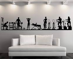 Large Vinyl Decal Wall Sticker Fitness Gym Sport Athletic Interior Decor N839 Gym Wall Decal Sports Wall Decals Vinyl Wall Decals