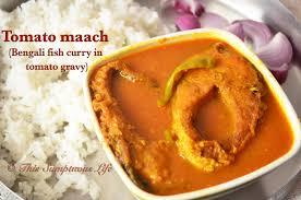 fish curry in tomato gravy ...