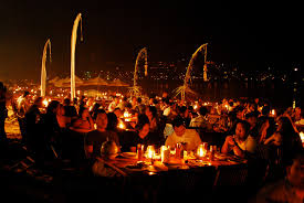 Food on the Beach at Jimbaran, Bali