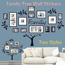 Large Small 3d Diy Photo Tree Pvc Wall Decals Family Tree Wall Stickers Art Home Decor Wish