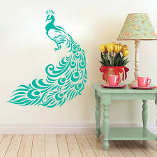 Peacock Wall Decal Living Room Sticker Beautiful Bird Mural Etsy