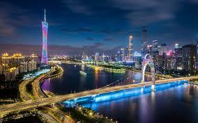 guangdong province china night view 4k
