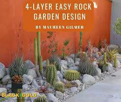 black gold 4 layer easy rock garden design