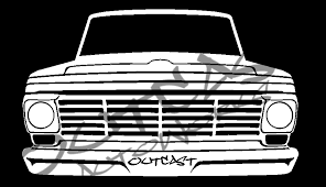 Outcast Autoworks 1967 Ford F 100 Vinyl Decal Outcastautoworks