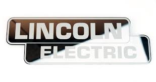 Mirrored Stainless Steel Lincoln Electric Decal 9 X 3 1 8 Bw Parts