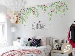 Branches Wall Decals Birds With Custom Name Tree Vinyl Wall Sticker Ho Ellaseal