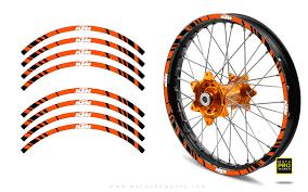 Rim Stripes Stripe Ktm Orange Motoproworks Decals And Bike Graphic Kit