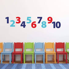 Number Wall Decals For Kids Db409 Designedbeginnings