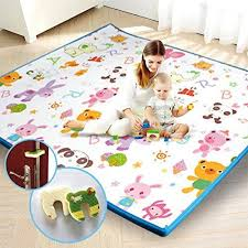 Play Mat Baby Care Foam Floor Gym Slip Reversible Waterproof Portable Double Sides Kids Baby Toddler Outdoor Or Indoor U Toddler Outdoor Play Mat Foam Flooring