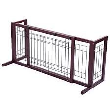 Amazon Com 71 Inch Wood Freestanding Dog Pet Fence Indoor Safety Gate For Small Dog Baby