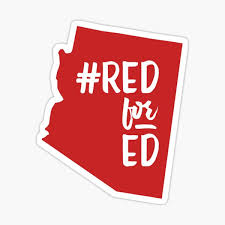Red For Ed Stickers Redbubble