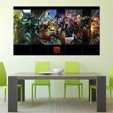 Dota 2 Online Game Block Giant Wall Art Poster