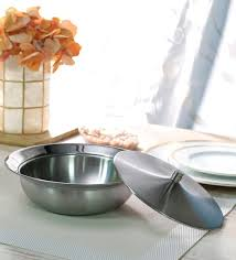 stainless steel serving bowls with lids
