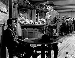 THE GUNFIGHTER (1950) - Local bad boy (Skip Homier) trues to goad ...